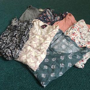 7 Maternity summer short sleeve lot bundle